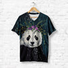 PANDA WITH PURPLE HEAD WREATH T-SHIRT
