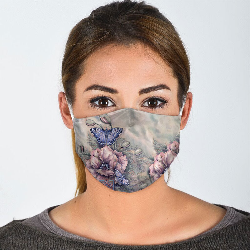 BUTTERFLY FLORAL FACE MASK