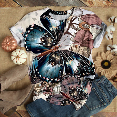 GIANT COLORFUL BUTTERFLY T-SHIRT