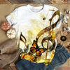 MUSIC NOTE BESIDE BUTTERFLY T-SHIRT