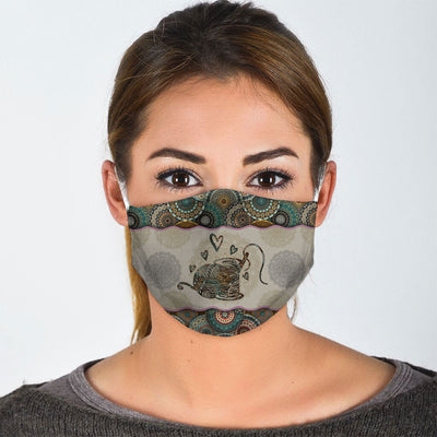 MANDALA SEWING MACHINE FACE MASK