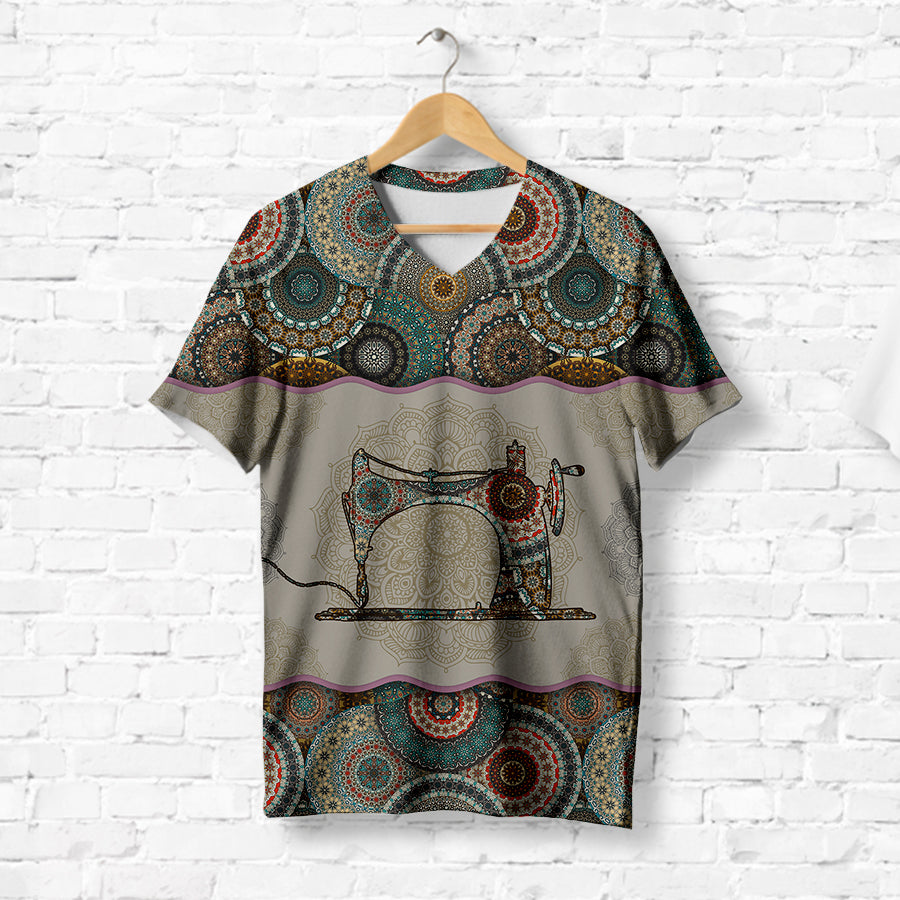MANDALA SEWING T-SHIRT