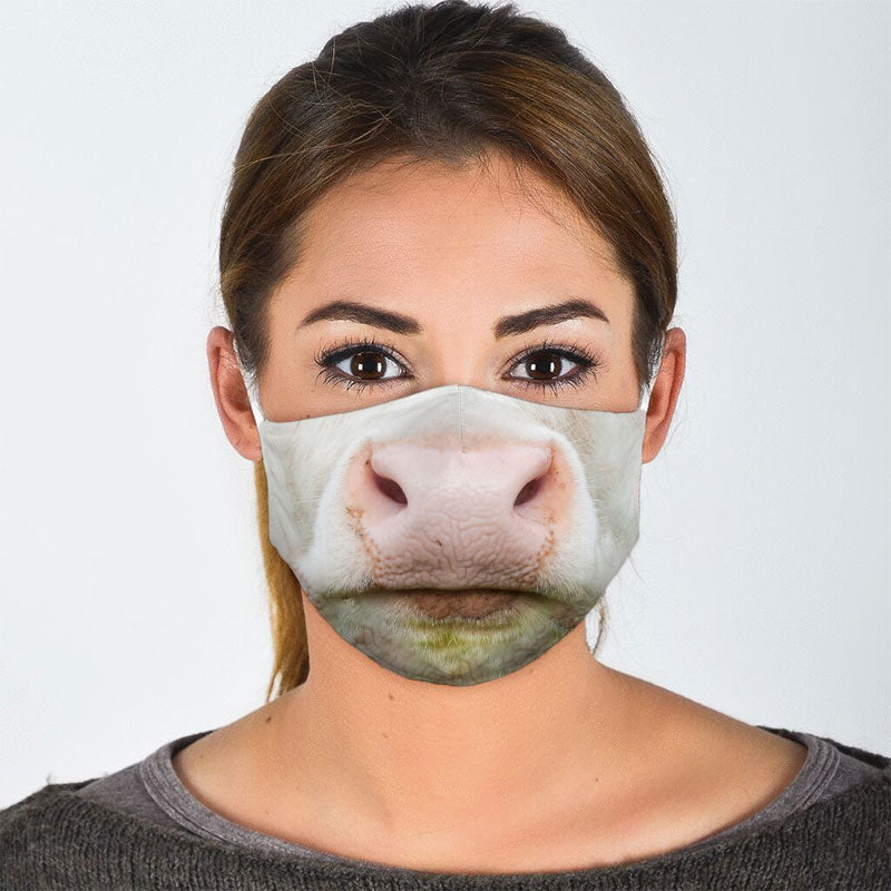 COW MOUTH FACE MASK