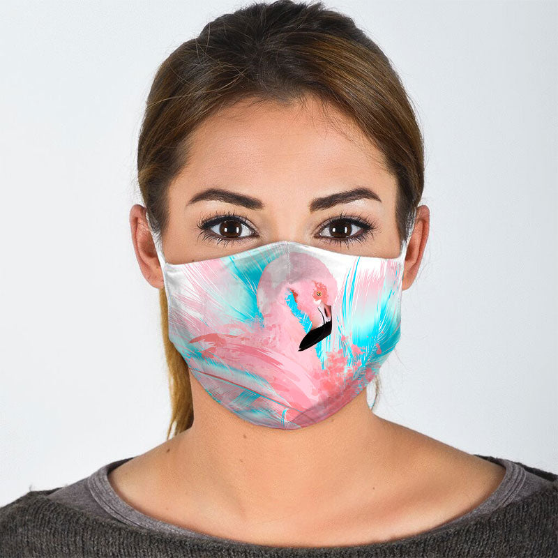 FLAMINGO FLORAL FACE MASK