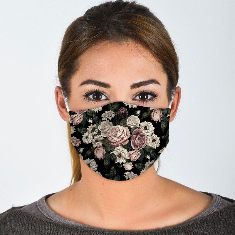 VINTAGE FLOWERS FACE MASK