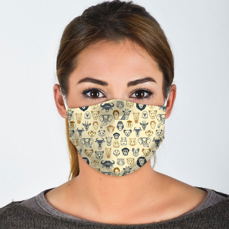 WILD ANIMAL FACE MASK