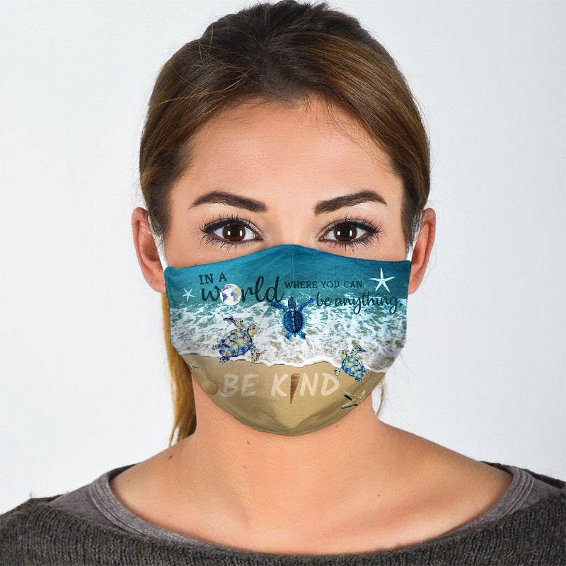 BE KIND SEA TURTLE FACE MASK