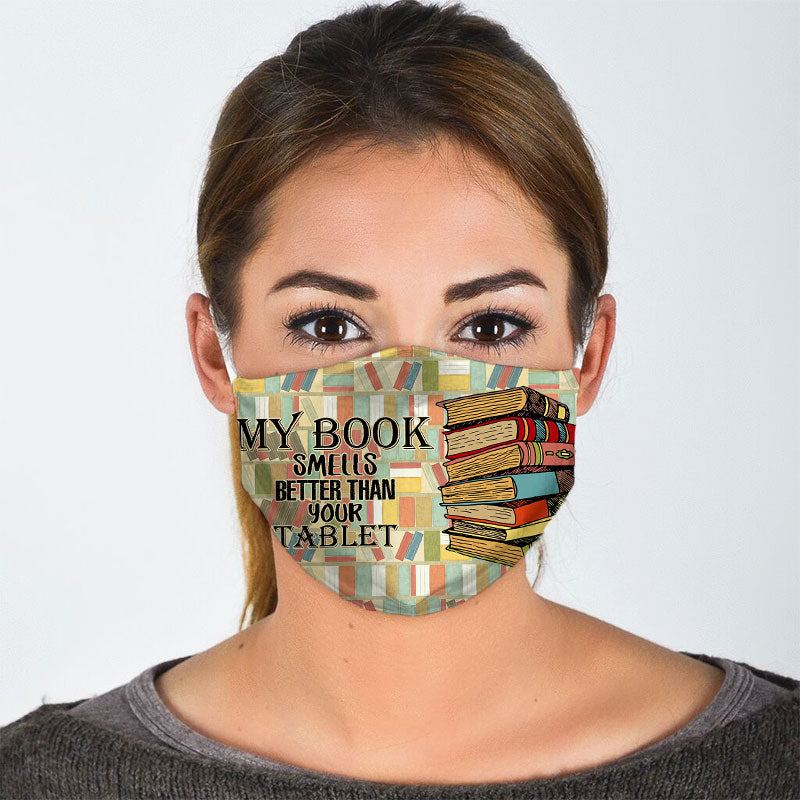 COLORFUL BOOK FACE MASK