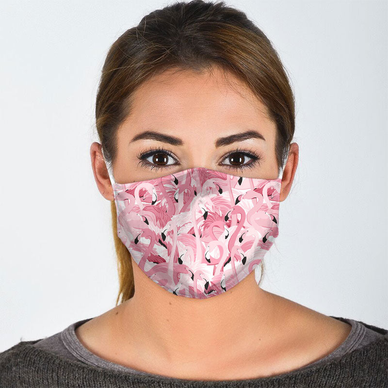 MULTIPLE FLAMINGO FACE MASK