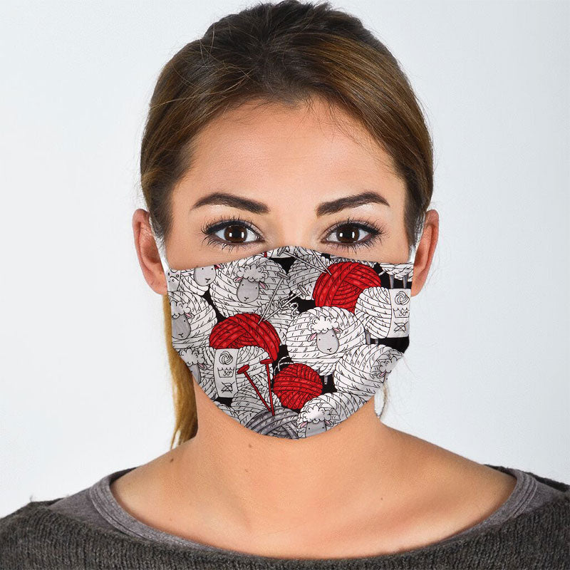 COZY SHEEP ROLL FACE MASK