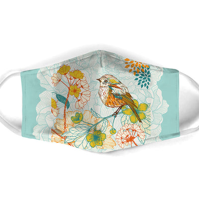 PAINTING COLORFUL BIRD FACE MASK