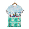 Bear Polar Bear Panda And Llama In Winter Clothes Christmas Bear T-shirt