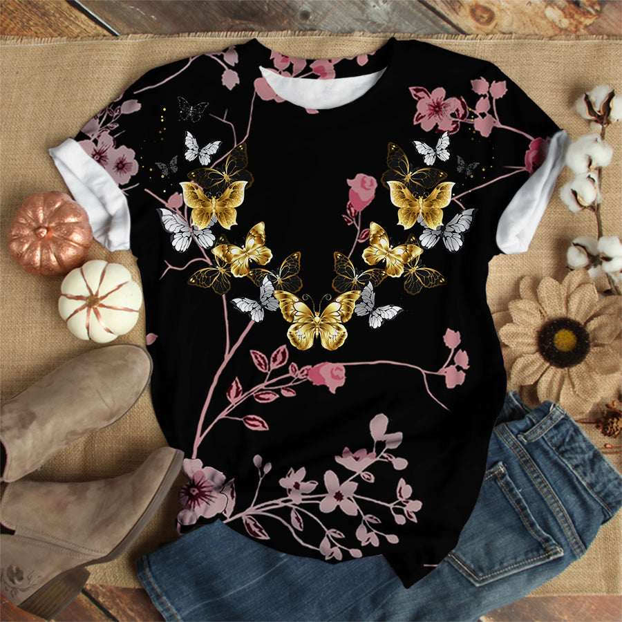 GOLDEN BUTTERFLY T-SHIRT