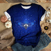GALAXY BUTTERFLY BLUE T-SHIRT
