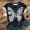 Butterfly Snowflakes Wildflower T-shirt