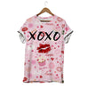 Xoxo Hug And Kiss With Red Lips Valentine T-shirt