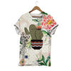 Cactus Love And Hug Botanical T-shirt
