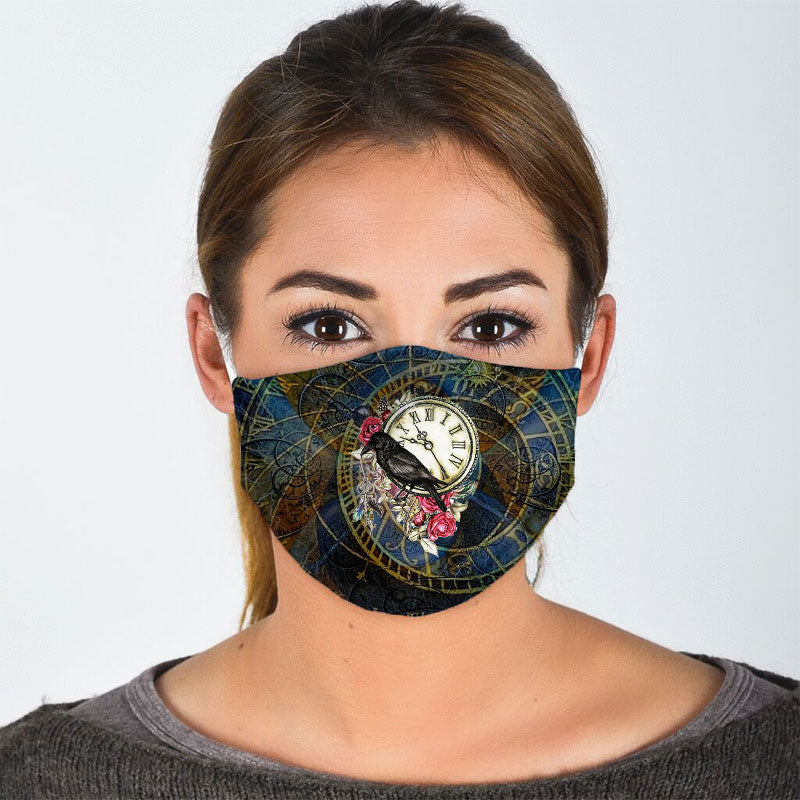 MYSTERIOUS RAVEN FACE MASK