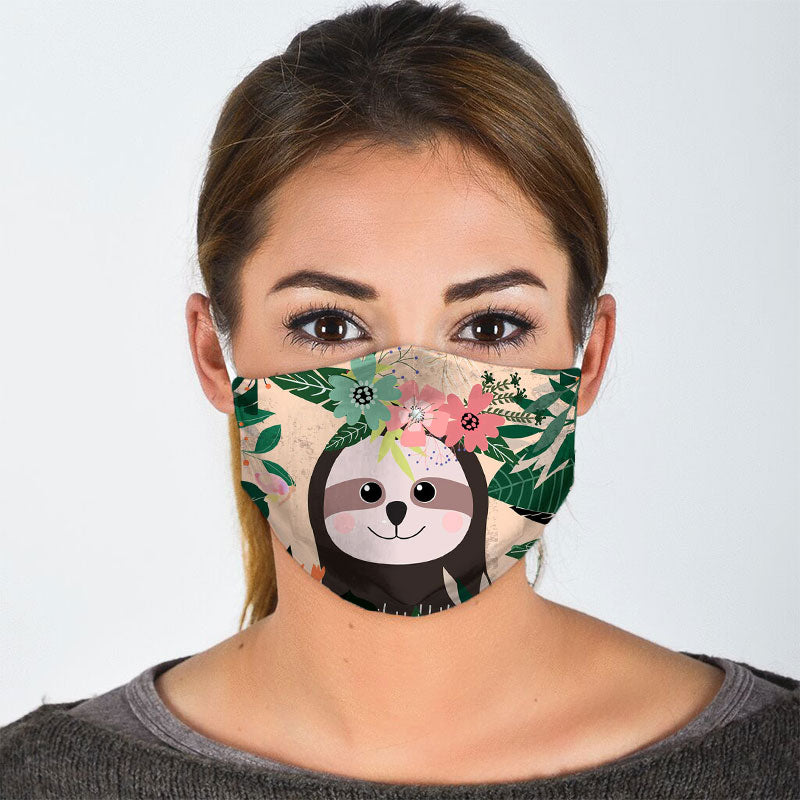 TROPICAL SLOTH FACE MASK
