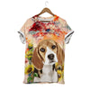 BEAGLE AND SUNFLOWER T-SHIRT