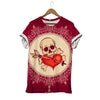 HEARTED SKULL T-SHIRT