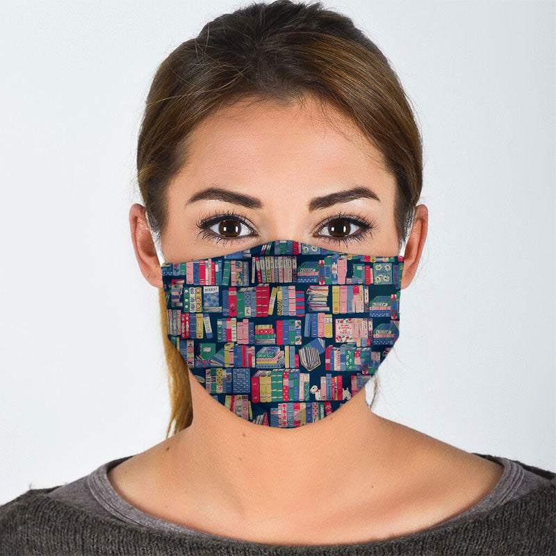 VINTAGE BOOK FACE MASK