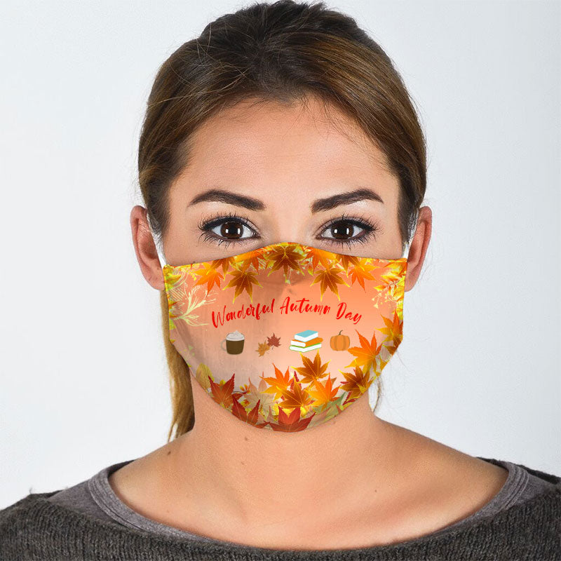 LEAVES IN AUTUMN HALLOWEEN FACE MASK
