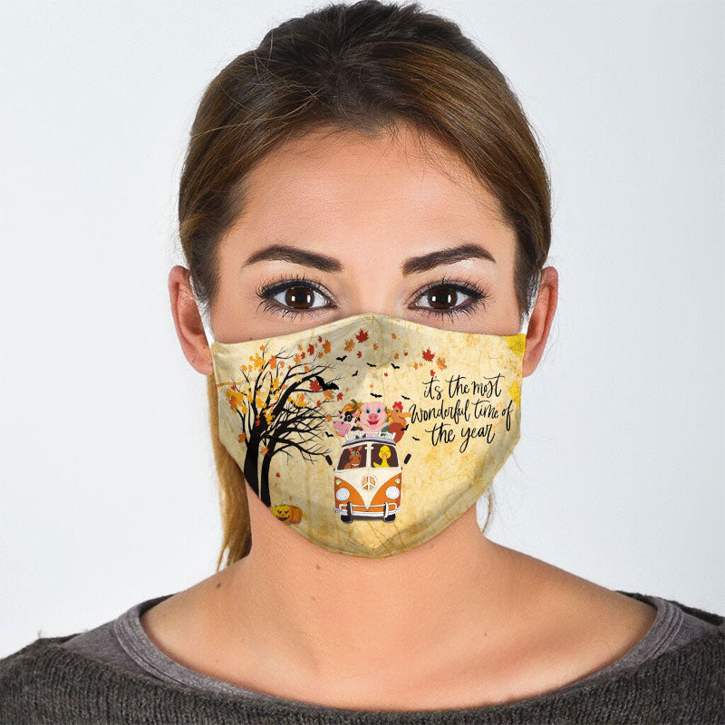 HAPPY HALLOWEEN FACE MASK