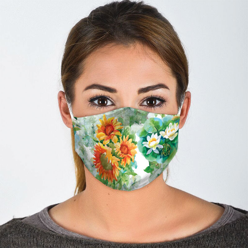 BLOOMING FLOWERS FACE MASK