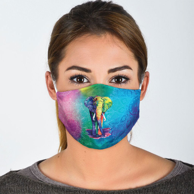 MANDALA ELEPHANT FACE MASK