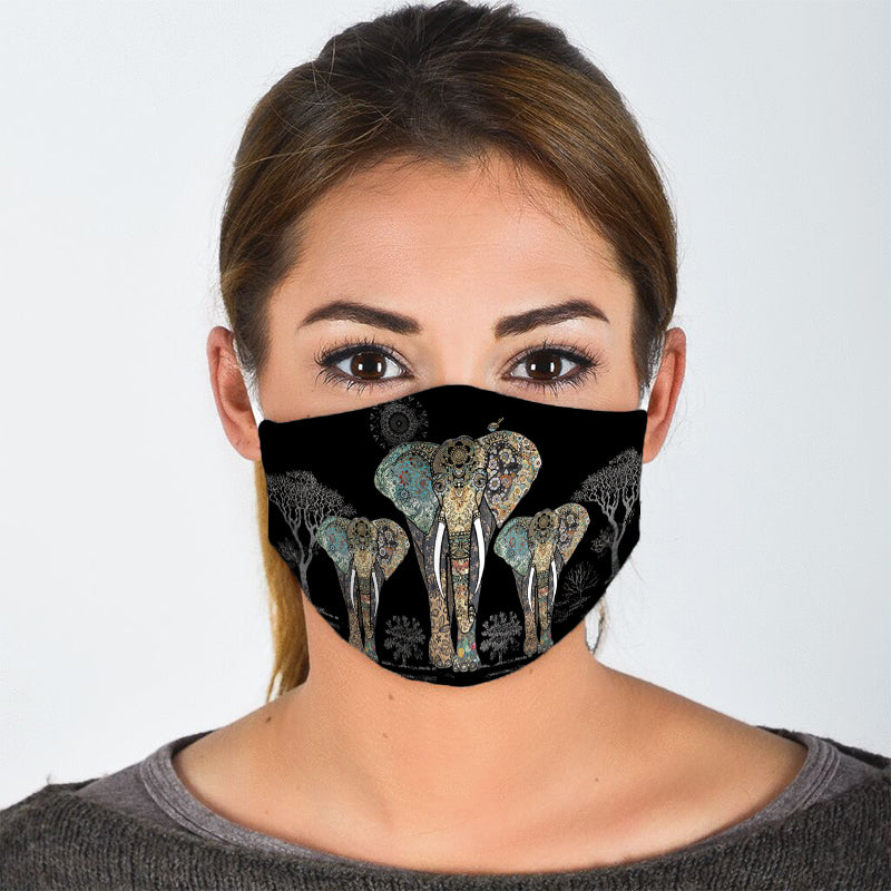 WALKING ELEPHANT FACE MASK