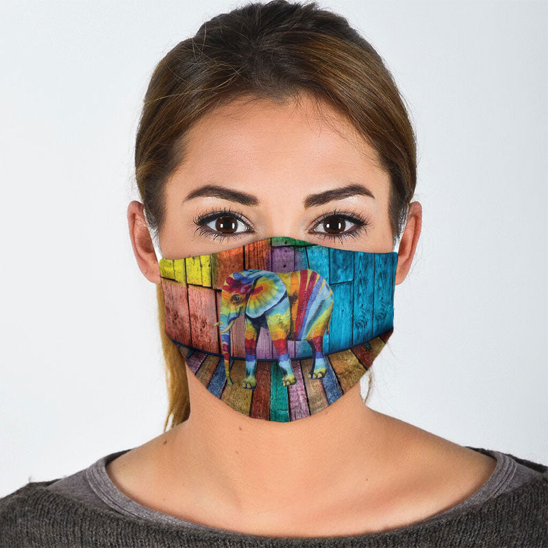 COLORFUL ELEPHANT FACE MASK