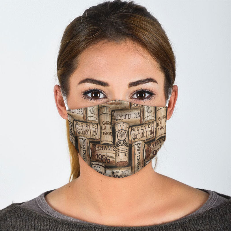 WINE CORK FACE MASK