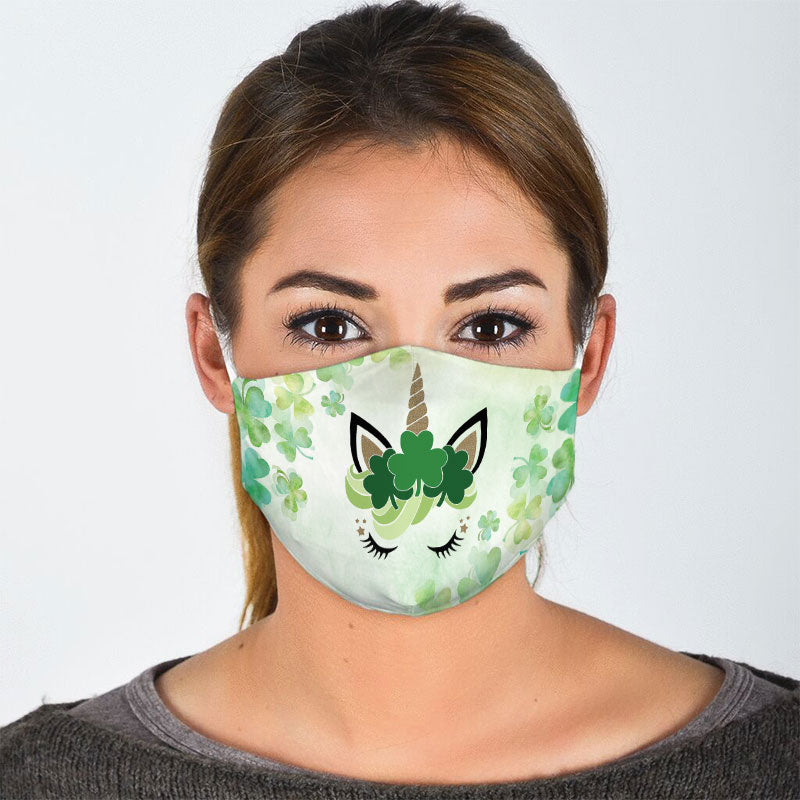SHAMROCK UNICORN FACE MASK