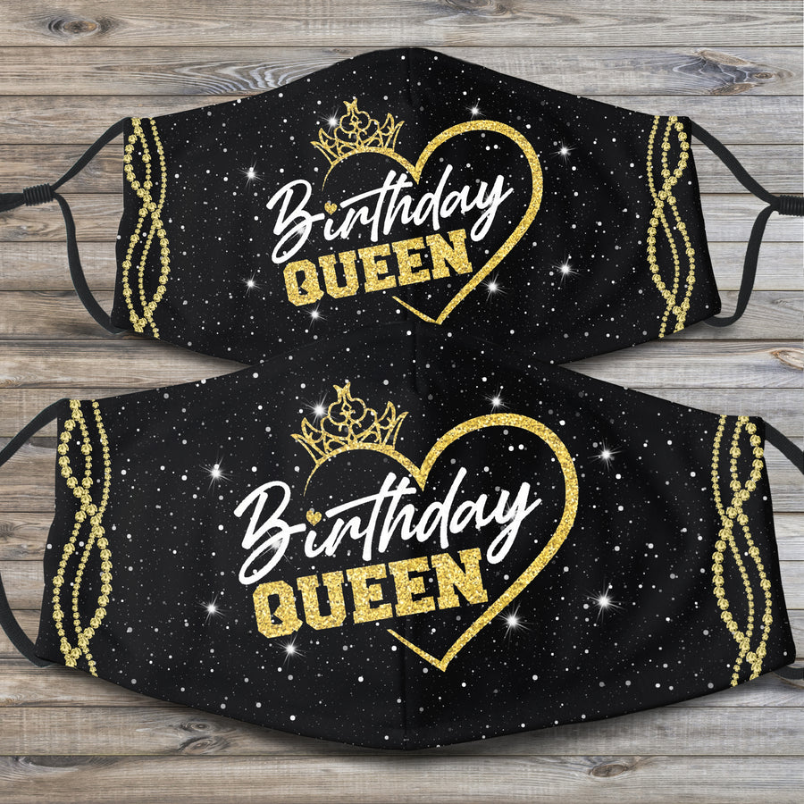 BIRTHDAY QUEEN FACE MASK