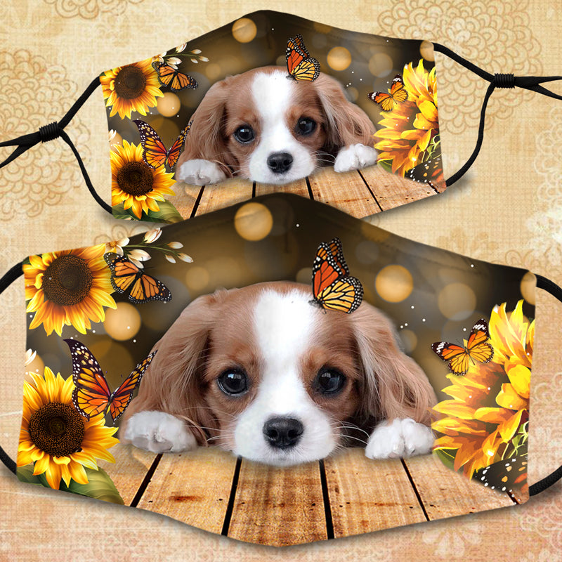 SUNFLOWER CAVALIER FACE MASK