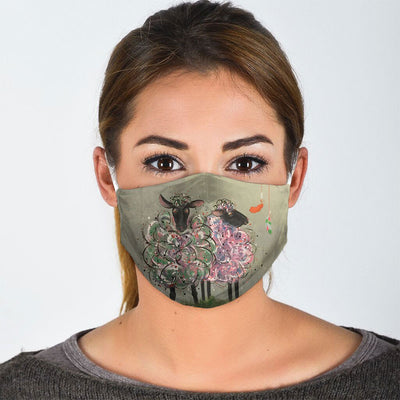 SHEEP PAINTING FACE MASK