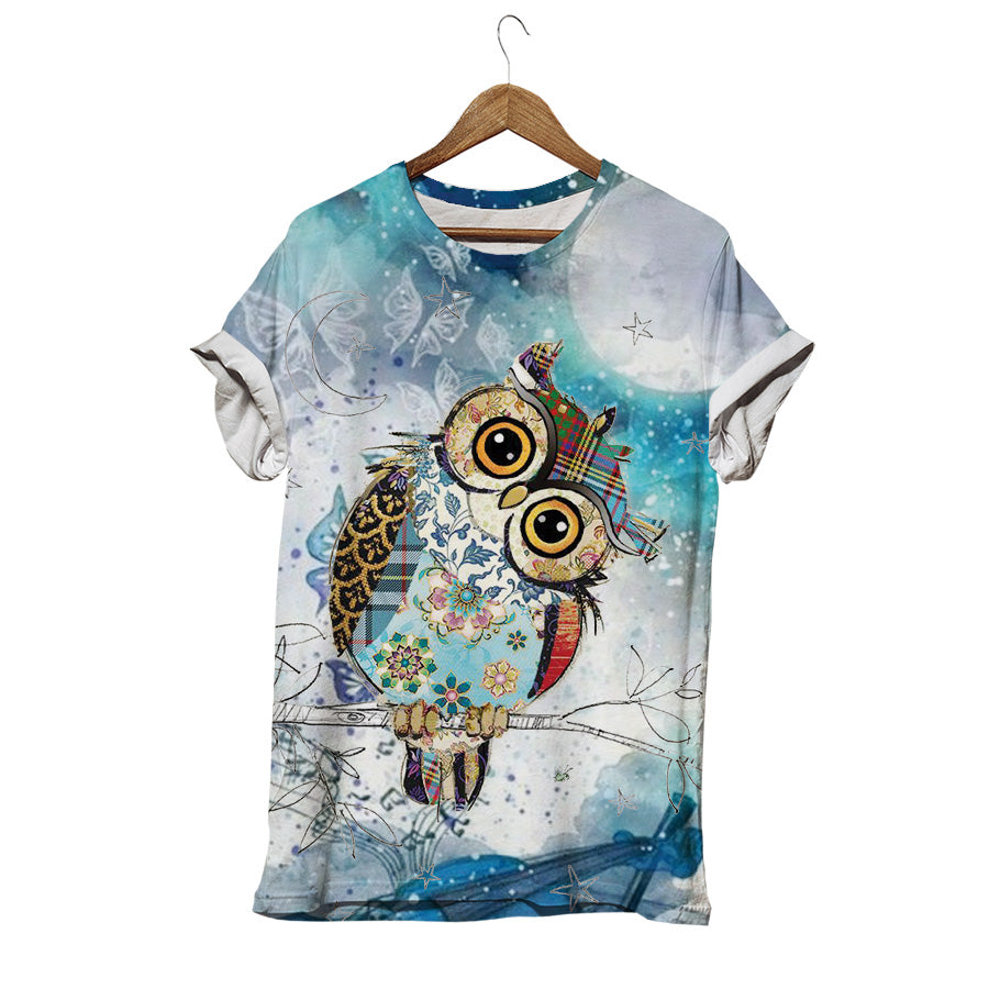 NATURAL OWL T-SHIRT