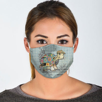PATCHWORK SEA TURTLE FACE MASK