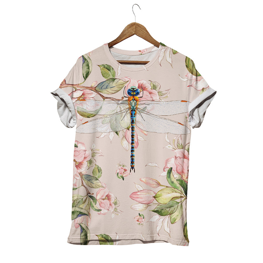 DRAGONFLY ON BLOSSOM DAY T-SHIRT