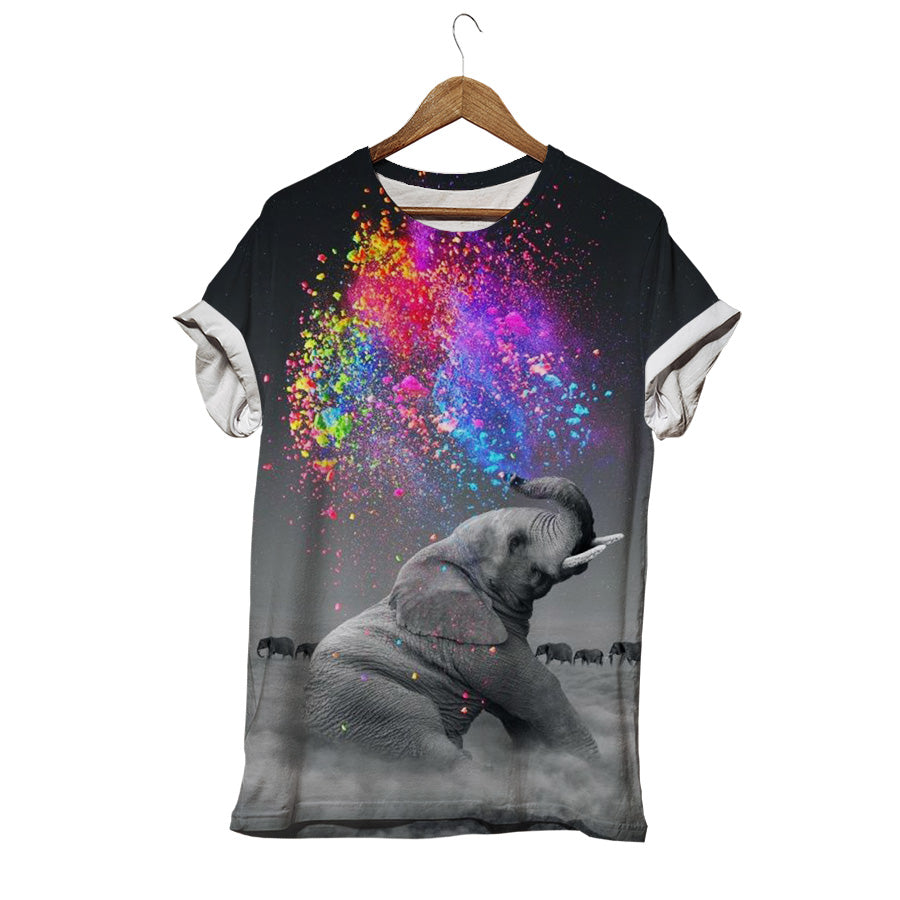 ELEPHANT PLAYING IN THE MEADOW T-SHIRT