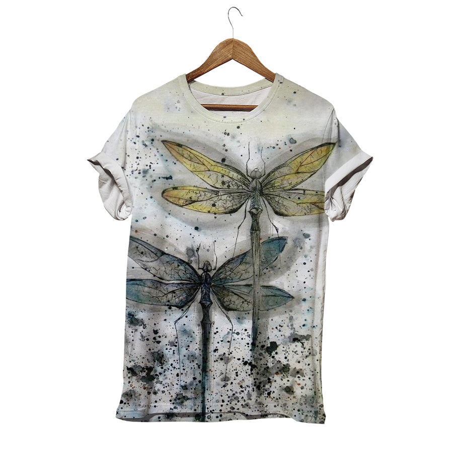 PARALLEL DRAGONFLY INK SPILL T-SHIRT