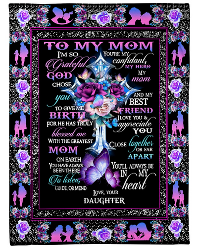 TO MY MOM BUTTERFLY FLEECE BLANKET