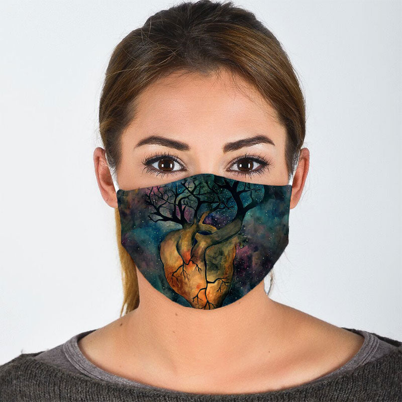TREE OF LIFE AT HEART FACE MASK