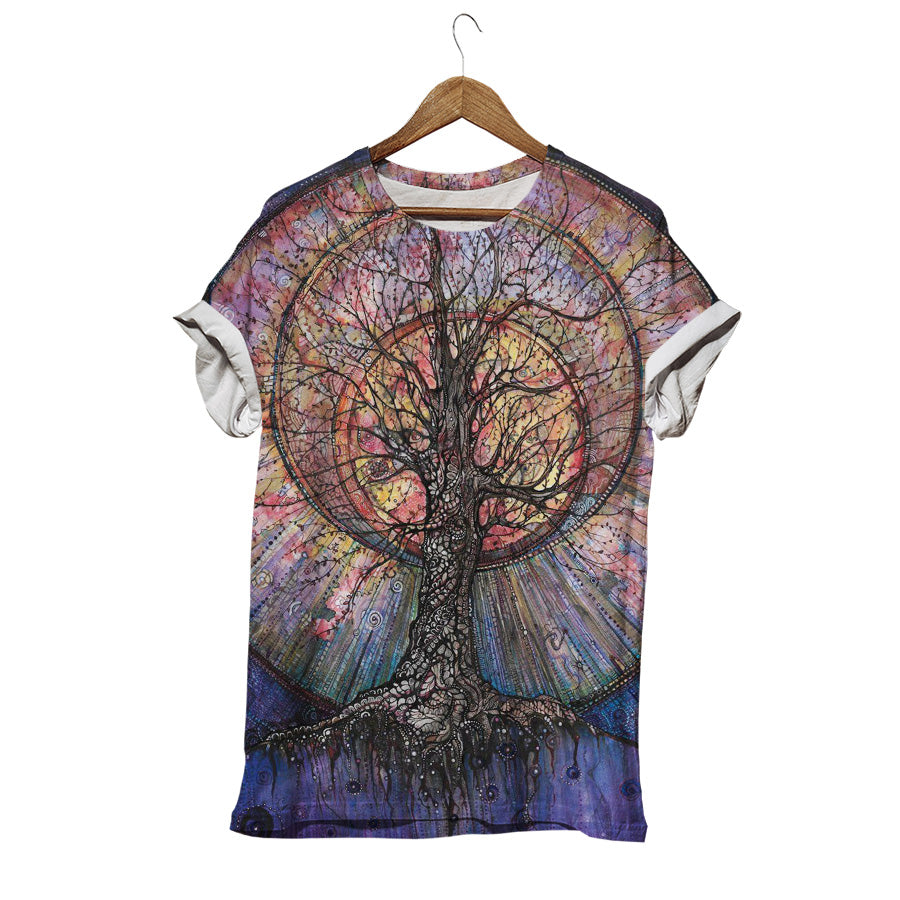 COLORFUL TREE OF LIFE T-SHIRT