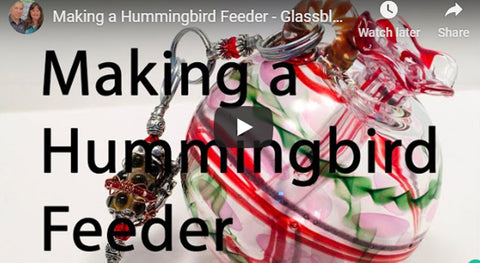New video on YouTube that shows how Bill blows our Hummingbird feeders