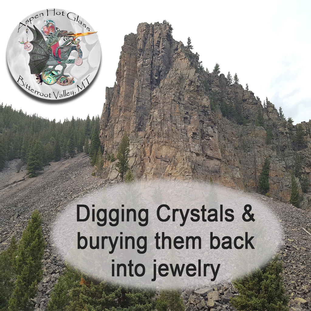 Digging crystals from the earth and reburying them into jewelry and art pieces