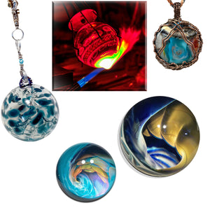 Hand Blown Glass Art by Bill and Rae Grout