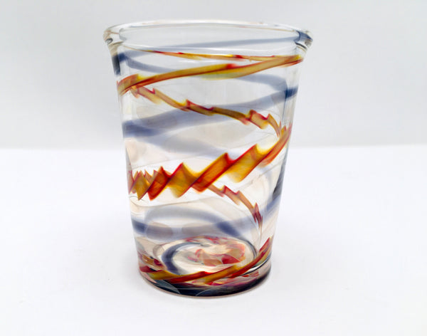 Shot Glass, Hand Blown Glass Drinkware, C425