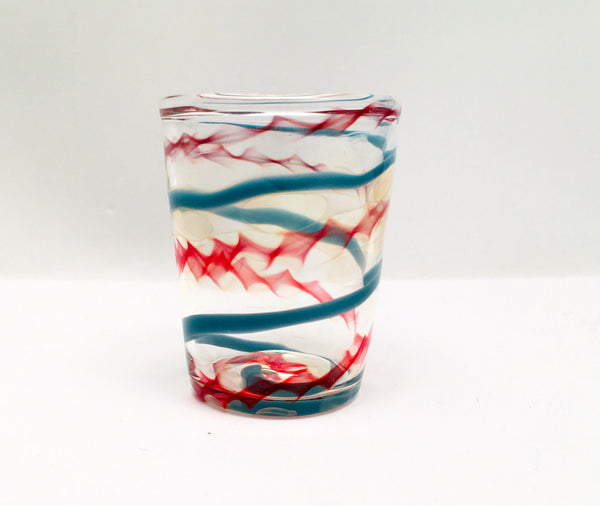 Shot Glass, Hand Blown Glass Drinkware, B224
